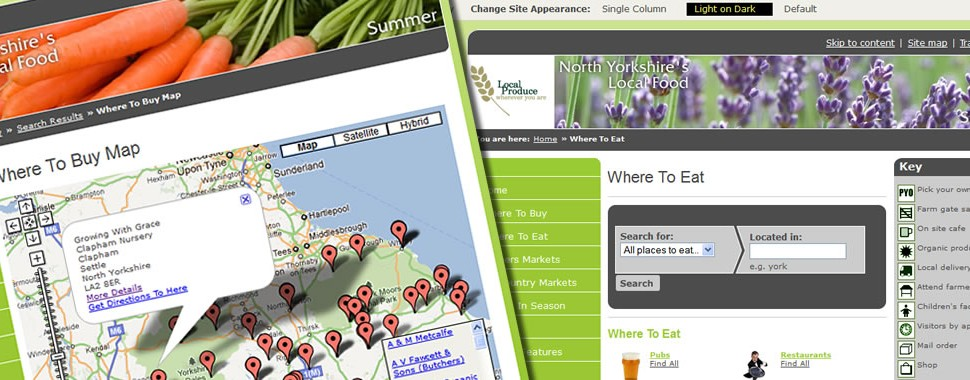 North Yorkshire Local Food Website