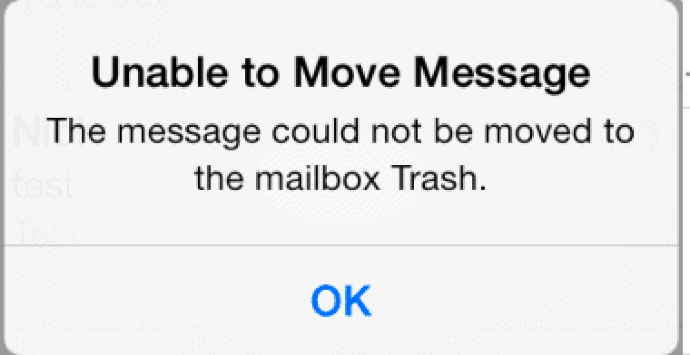 iphone unable to move message