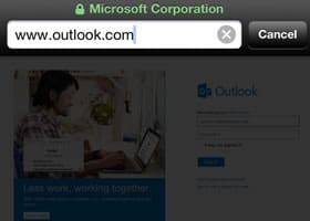 go to outlook login page