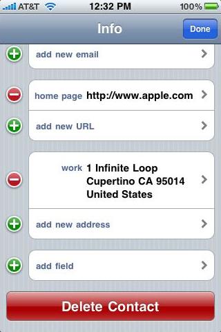 delete contact iOS 6