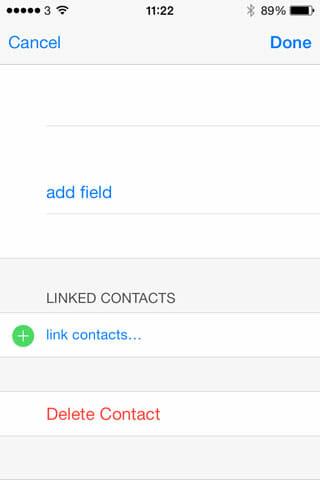 color use - delete contact iOS 7