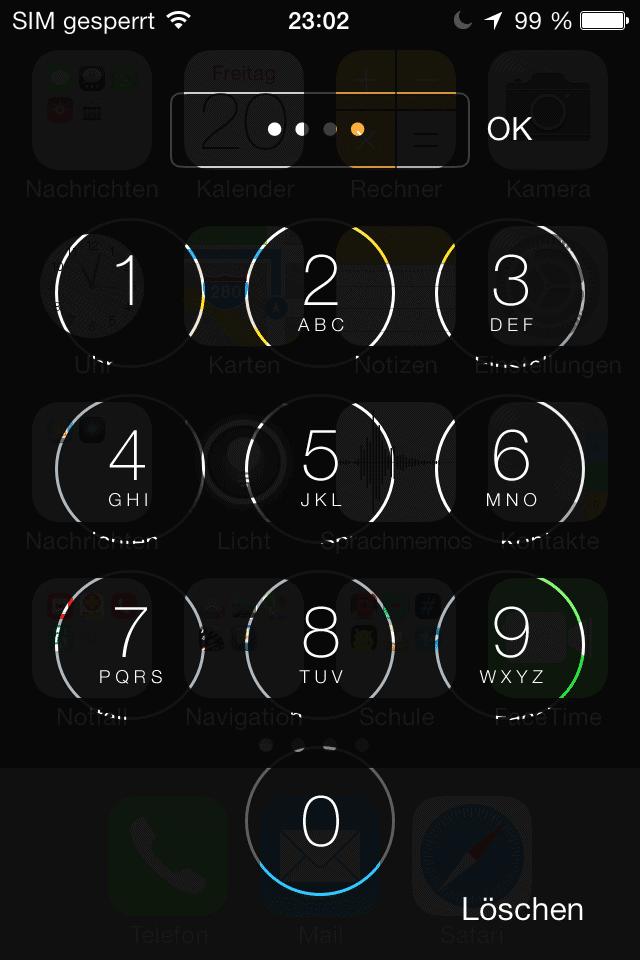 iOS 7 mistake lock screen