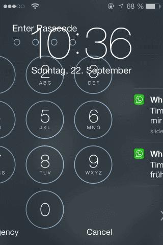 iOS7 Mistake – User Interface Fail
