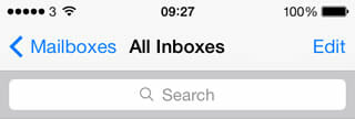use of color in iOS 7 mail