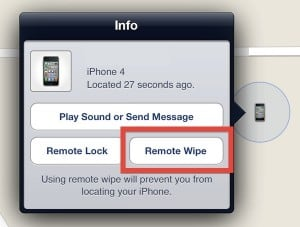 remotely delete iphone, ipad or ipod touch data
