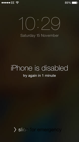 unlock iOS 8 iPhone - disabled