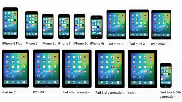 ios 9 compatibility list for iphone and ipad