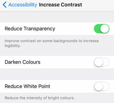 iOS 9 Transparency
