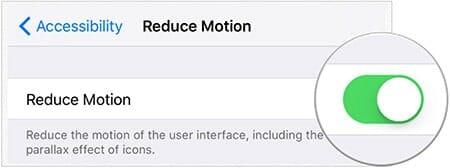 ios 9 reduce motion
