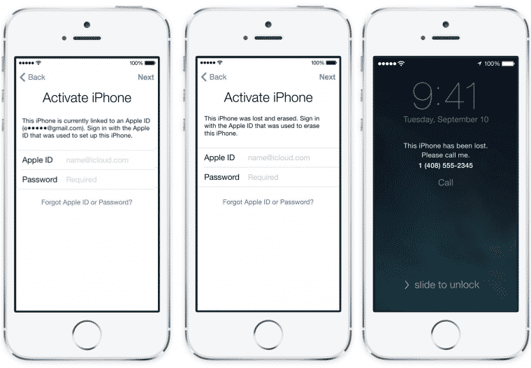iCloud login screenshot on an iPhone